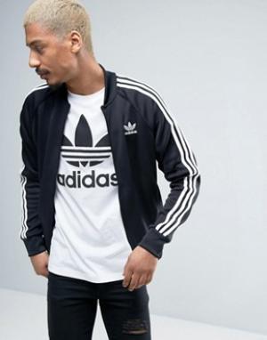 Adidas Originals Спортивная куртка с трилистником Superstar AY7059. Цвет: черный