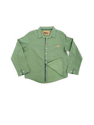 Рубашка Pilota. Цвет: зеленый