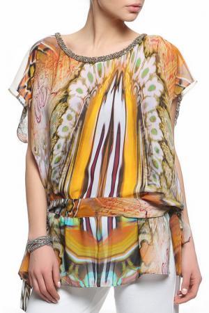 Блуза XS MILANO. Цвет: оранжевый