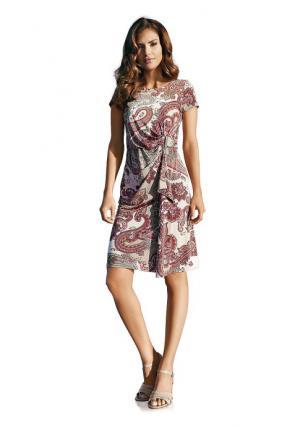 Платье Ashley Brooke. Цвет: розовый с рисунком