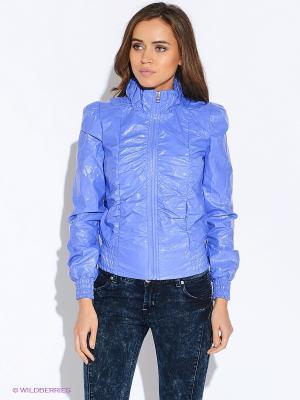 Куртка Oodji. Цвет: сиреневый