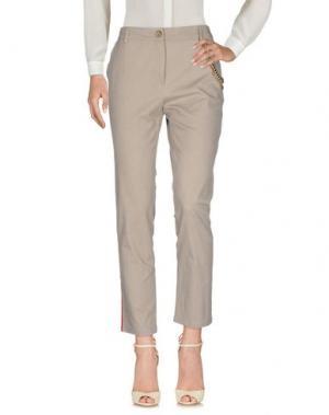 Повседневные брюки CQFP. Цвет: серый