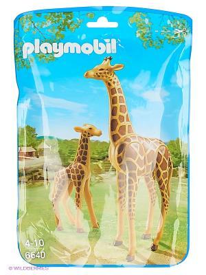 Зоопарк: Жираф со своим детенышем жирафом Playmobil. Цвет: коричневый