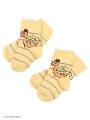Носки, 2 пары lap n cap. Цвет: желтый