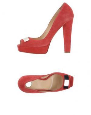Туфли ELISABETTA FRANCHI. Цвет: кирпично-красный