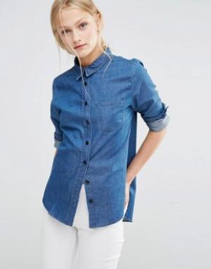 Uncivilised Джинсовая рубашка Crescent. Цвет: синий