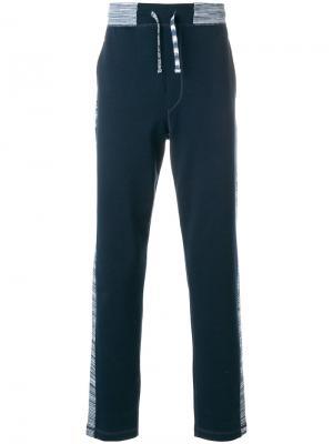 Спортивные брюки с лампасами Missoni. Цвет: синий