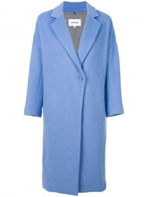 Свободное пальто Enföld. Цвет: синий