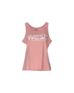Майка WESC. Цвет: розовый