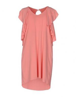 Короткое платье B.YU. Цвет: коралловый