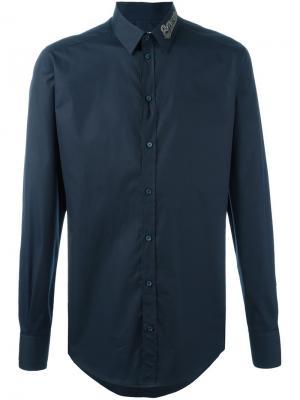 Рубашка с декорированным воротником Dolce & Gabbana. Цвет: синий