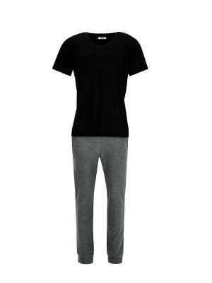Пижама Оливер TOGAS. Цвет: черный, серый
