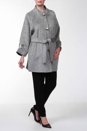 Пальто с поясом ICON. Цвет: серый