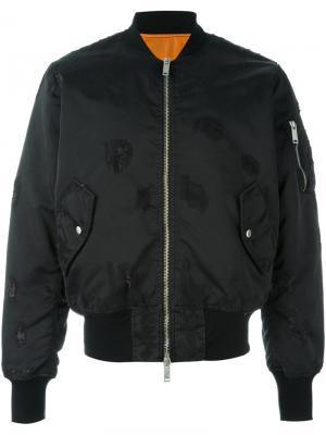 Куртка-бомбер на молнии Unravel Project. Цвет: чёрный