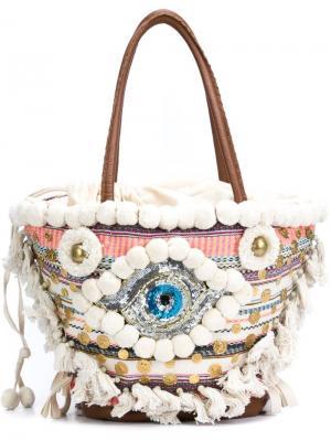 Средняя сумка-тоут Padama Figue. Цвет: телесный