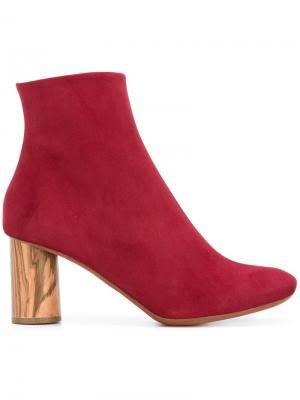 Ботинки на контрастном каблуке Proenza Schouler. Цвет: красный