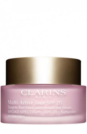 Дневной гель Multi-Active для всех типов кожи Clarins. Цвет: бесцветный