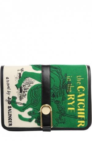 Сумка Victoire с аппликацией  Catcher in the Rye Olympia Le-Tan. Цвет: разноцветный