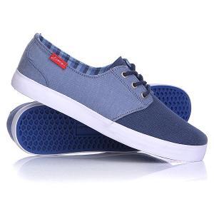 Кеды кроссовки низкие  Crip Navy Circa. Цвет: голубой,синий