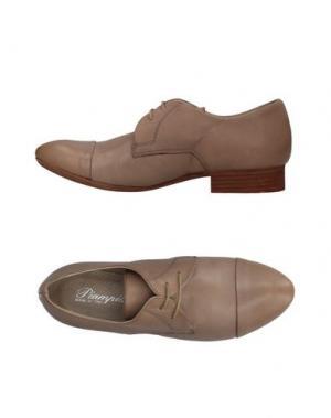 Обувь на шнурках PIAMPIANI. Цвет: бежевый