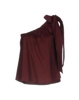 Топ без рукавов SOUVENIR. Цвет: красно-коричневый