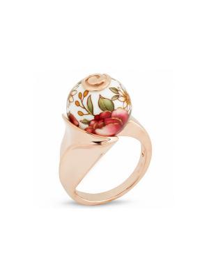 Кольцо Японские цветы. Цвет: золотистый