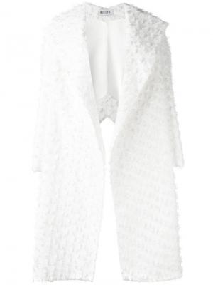 Свободное текстурированное пальто Maticevski. Цвет: белый
