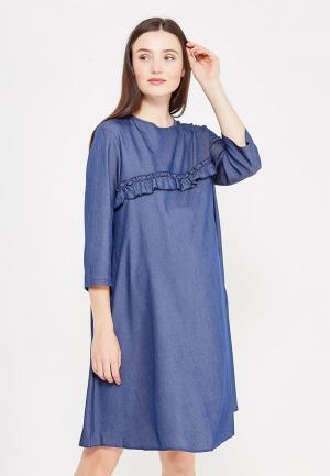 Платье Фэст. Цвет: синий