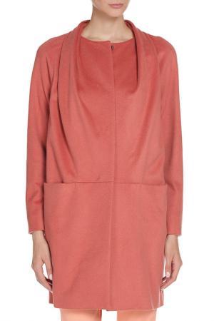 Пальто Marella. Цвет: персиковый