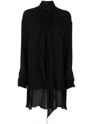 Блузка с бантом Plein Sud. Цвет: чёрный