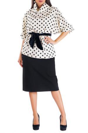 Комплект: жакет и юбка Mannon. Цвет: молочный
