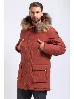 Пальто Finn Flare. Цвет: бордовый