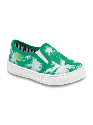 Слипоны Befado. Цвет: зеленый, белый