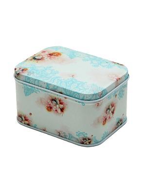 Коробка для безделушек и мелочей Голубой узор Magic Home. Цвет: голубой