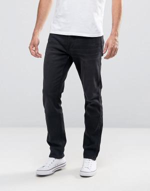 Hollister Черные выбеленные зауженные джинсы стретч. Цвет: черный