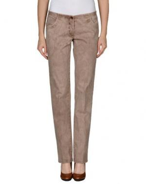 Повседневные брюки IRMA BIGNAMI. Цвет: голубиный серый