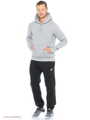 Брюки M NSW PANT CF FLC CLUB Nike. Цвет: черный, антрацитовый, белый