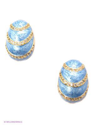 Серьги Happy Garnets. Цвет: голубой