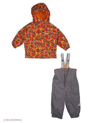 Комплект одежды (куртка+комбинезон) Kerry. Цвет: серый, оранжевый