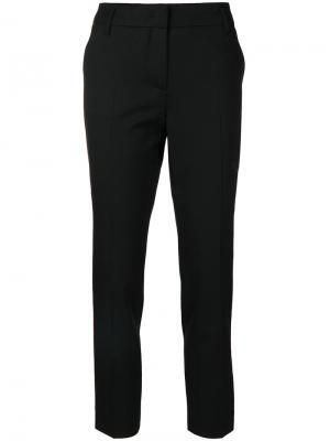 Укороченные брюки  с контрастными полосками Dorothee Schumacher. Цвет: чёрный