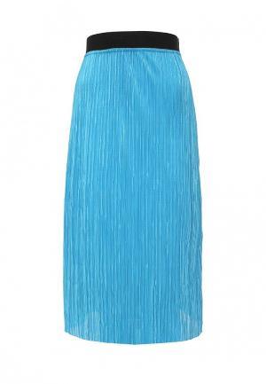 Юбка Amplebox. Цвет: голубой