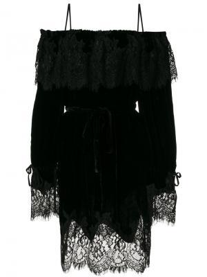 Кружевное платье Sophia Gold Hawk. Цвет: чёрный