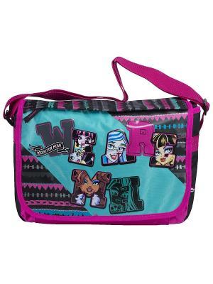 Сумка Monster High. Цвет: черный, голубой, розовый
