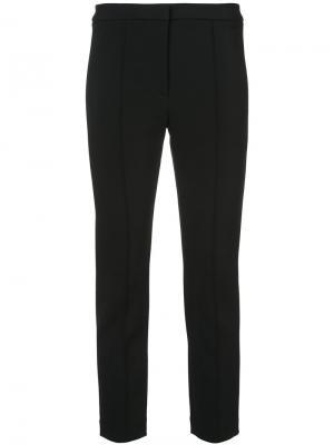 Укороченные брюки со складками Adam Lippes. Цвет: чёрный