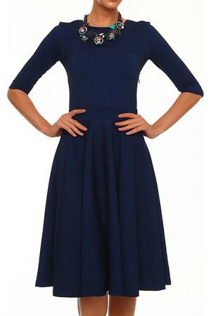 Платье Domena. Цвет: синий