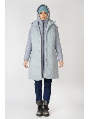 Многофункциональное пальто DuckyStyle. Цвет: голубой