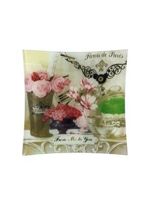 Тарелка Gift'n'Home. Цвет: розовый