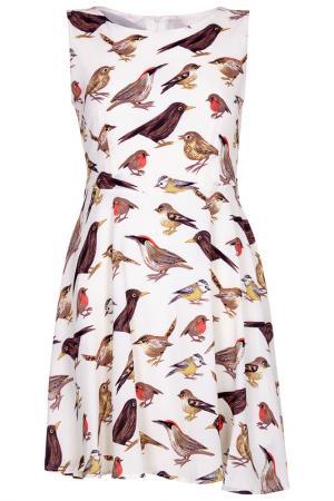 Платье Iska. Цвет: white