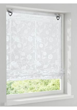 Римская штора Heine Home. Цвет: молочно-белый