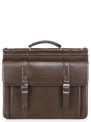 Портфель D.VERO. Цвет: коричневый